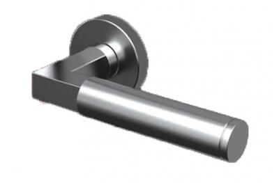 Пара Ручки ТРОКЭКС Оттава в Satin Steel Розетка из нержавеющей круглой или овальной формы
