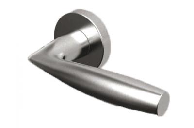 Пара Ручки ТРОКЭКС Наксос в Satin Steel Розетка из нержавеющей круглой или овальной формы