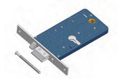 Защелка с потоком OMEC электрического замка в диапазоне для алюминия
