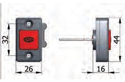 Кнопка механик OMEC вернисаж в Фермо с винтами электрический замок