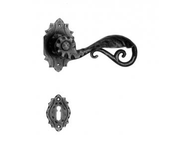 15 Гэлбрейт ручку двери с Rosetta и сопла кованого железа искусства