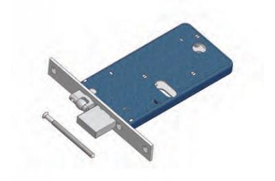 Регулируемая ролик и ригель замка для диапазона OMEC механики алюминия