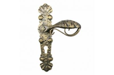 2041 Ручка Кованые двери для мастер пластины Lorenz Ferart