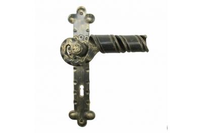 2046 Ручка Curl Кованые двери для пластины Lorenz Ferart