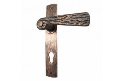 2058 Поддельные ручки Кованые двери Timber пластины Lorenz Ferart