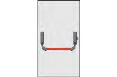 Ручка Panic OMEC композиция для одностворчатые двери заблокировать точку