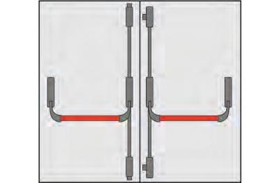 Ручка Panic OMEC состава дверях две двери четыре точки Закрытие