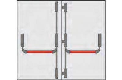 Ручка Panic OMEC Композитные двери к двум Анте пять точек закрытия