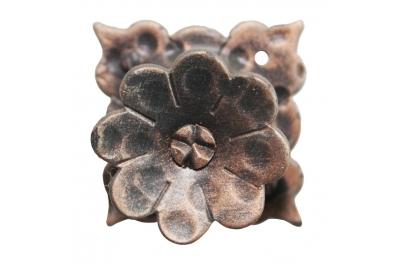 3186 Ручка цветок с лепестками Кованая мебель для Lorenz Ferart