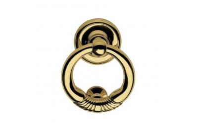 369 BA Margherita Дверной молоток круглой линии Calì с элегантной отделкой из латуни