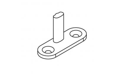 Заглушка OJ 40x14 контактный Н = 20мм черный матовый