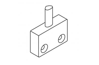 Закрытие OJ пластину крепления провода матовый черный