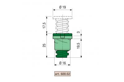 Прокладка Прони быстрой Блок з / п серии 600 Тело Зама