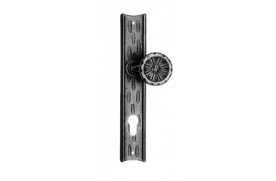 Ручка 61 / F Ø55 Исправлена Zancato на пластине Гэлбрейт кованого железа искусства