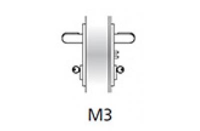Ручка Emergency Kit Ninz М3 Противопожарная дверь Пластиковые Черный S = 60 мм