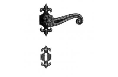 901 Galbusera ручка двери с розеткой и сопла кованого железа искусства