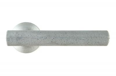 Цементная ручка Juno Color Ash для двери на розетке от дизайнера Алессандро Дубини для Mandelli