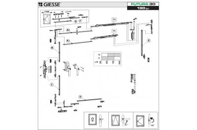 Анта Рибалта 3D Futura для Cremonese логики базовой конфигурации Giesse