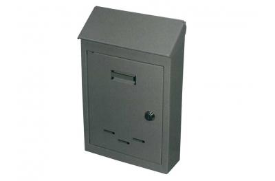Почтовый ящик с замком цилиндра окрашены железа Grey IBFM