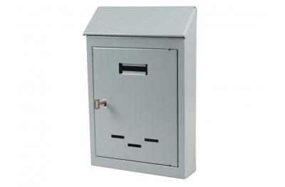 Почтовый ящик малого или среднего серого цвета железа с ключевыми IBFM