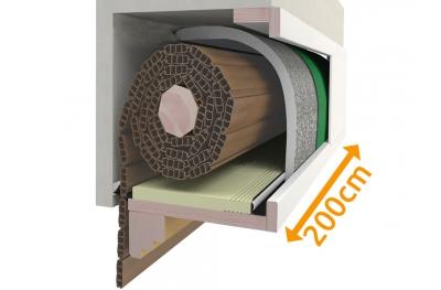 Ящик для рулонных ворот Custom kit 200 см PosaClima Renova