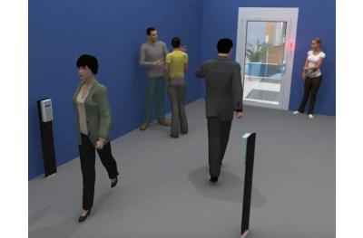 Счетчик людей со светофором для Opera Presence Control Shop