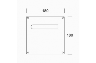 Ручки пластинчатых пара PBA 2MM.015.00A1 из нержавеющей стали AISI 316L