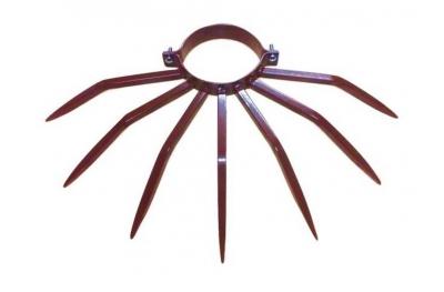 Противоугонный диаметр столбика 120 мм Grimpo для наружных труб Тип осадков в коричневой окрашенной стали