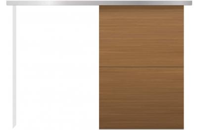 Комплект раздвижных дверей для внешней стены Минимальный бесшумный основной дизайн