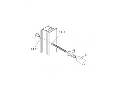 Закрепление Kit PBA 01 Одной ручкой через двери Алюминий Железо Вуд