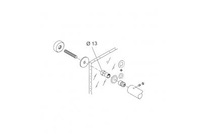 Монтажный комплект для Ручка PBA 02 одноконтурный для стеклянных дверей