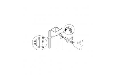 Закрепление Kit PBA 03 Одной ручкой не через двери какого-либо материала