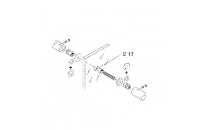 Закрепление Kit PBA 04 для Одной ручкой Контрастирует для дверей стекла