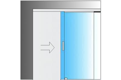 Раздвижной комплект MiniSlide SbyC Glass System со сдвижной направляющей