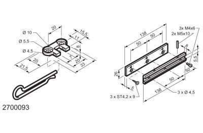 Универсальный комплект для применения на окнах навесные WAY Мингарди