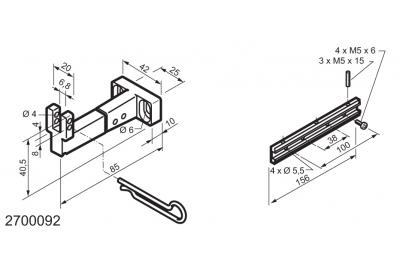 Универсальный комплект для приложений на нижней навесной окна WAY Мингарди Micro L