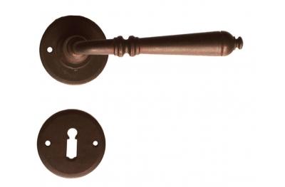 Москва Круглый Гэлбрейт ручка двери с Rosetta и сопла