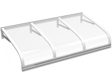 Приют Euriga Белый Прозрачный алюминий АМА Защита от солнца