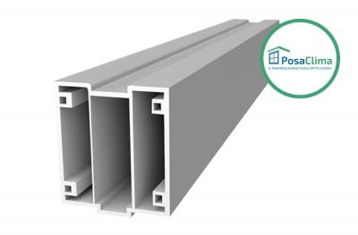 Нижний ПВХ-профиль для термоизоляционной рамы Serramenti Klima PosaClima