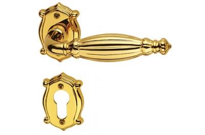 Королева Classique Pasini для латуни ручка двери с розеткой и сопла