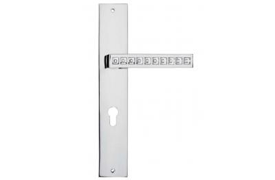 Reflex ручка на пластину двери Линия Кристал Кали