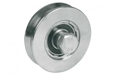 Колесо для откатных ворот 2 шарикоподшипники горло V Различные диаметры IBFM