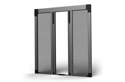 SharkNet Центральное открытие плиссированной москитной сетки 04 для балконов и французских дверей
