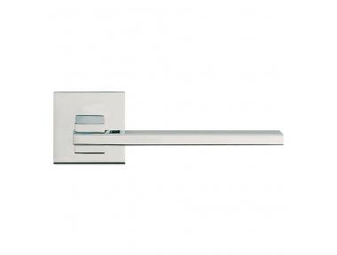 Тонкий полированный хром Дверные ручки на Rosette с монтажным Ультра-Click-Clack Linea Cali Design