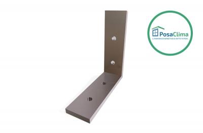 Алюминиевый угловой кронштейн 80x80 мм для контррамки Klima Pro