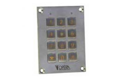 Клавиатура Antivandalic код контроля доступа 55612SS серии Opera Access