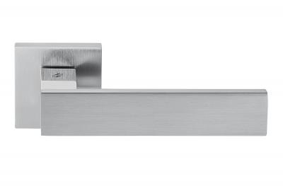 Alba Полированный хром и атласная ручка для двери на розетте Дизайн Сделано в Италии Дизайн Коломбо