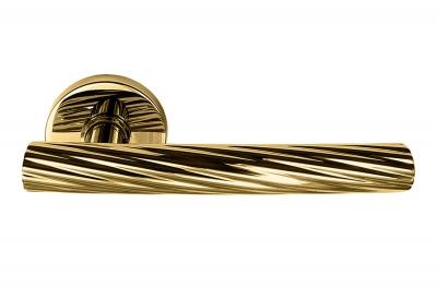 Творческая ручка Fusilla для двери на розетке от дизайнера Alessandro Dubini для Mandelli