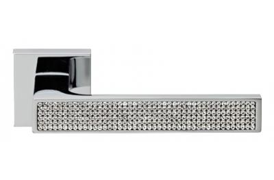 Zen Mesh Полированный хром ручка порт Rosetta Linea Cali Кристалл
